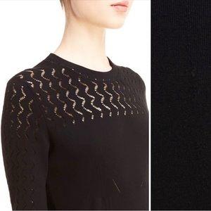 Kenzo. Pointelle Knit Sweater. Open kit areas